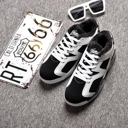 秋季运动休闲男士气垫跑步鞋韩版潮流男鞋子学生板鞋棉鞋冬季潮鞋