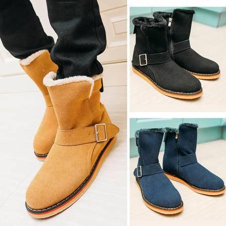 男鞋冬季潮鞋保暖加绒加厚棉鞋男靴子韩版潮流短靴雪地靴男冬鞋男