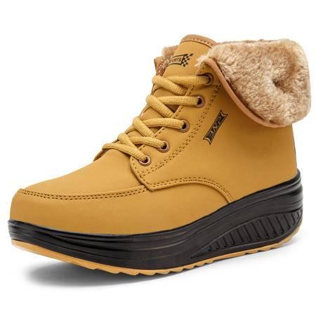 2016冬季新款加绒加厚保暖摇摇鞋 轻便舒适防滑雪地靴 中帮大棉鞋