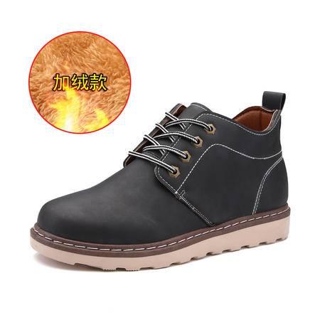 男鞋冬季加绒英伦大头鞋马丁鞋休闲鞋韩版男士棉鞋工装鞋复古潮鞋