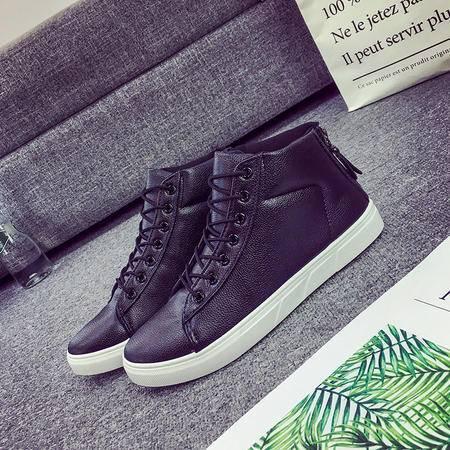 冬季新款男鞋棉鞋大棉高帮超纤皮保暖学生鞋板鞋加绒抗寒保暖