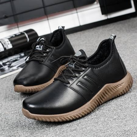 2016新款冬季男鞋加绒棉鞋韩版潮鞋男士休闲鞋子青少年学生保暖鞋