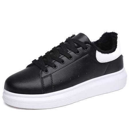 小白鞋棉鞋厚底加绒潮鞋增高松糕韩版潮运动休闲鞋