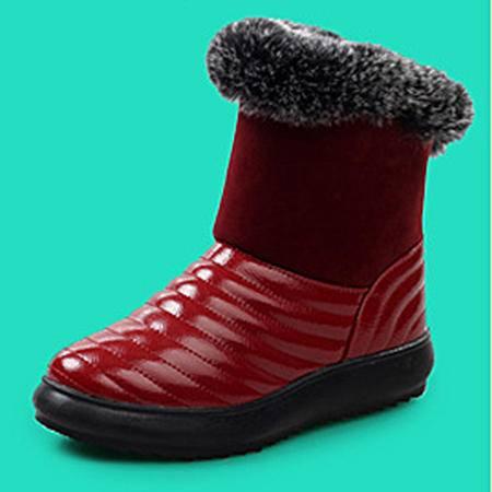 2016冬季真皮防水雪地靴厚底加绒棉鞋套筒防滑保暖中筒靴子女冬靴