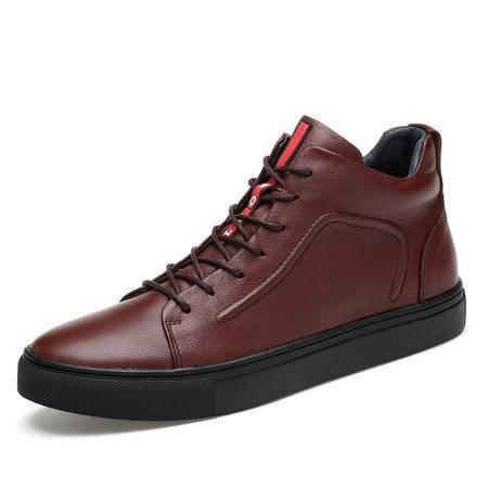 冬季韩版马丁男靴真皮高帮板鞋加绒保暖棉鞋