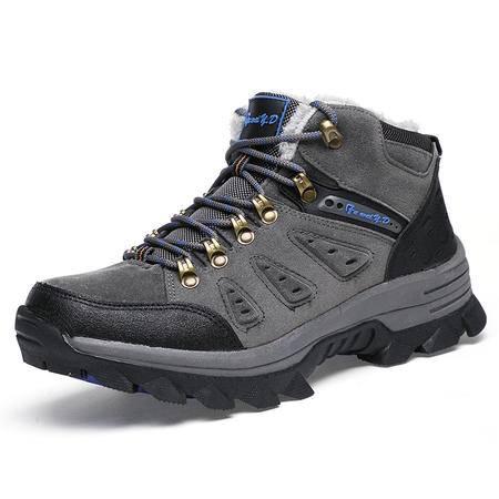 冬季男户外运动休闲男鞋子旅游棉鞋登山青年保暖加绒