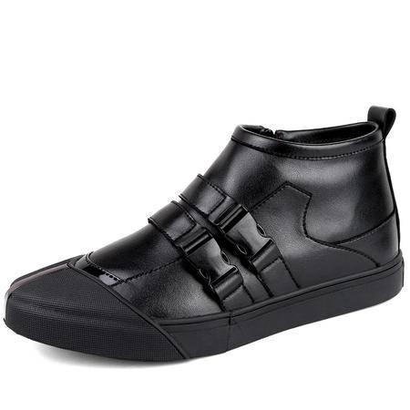 秋冬季高帮男鞋韩版运动休闲鞋加绒保暖加厚棉鞋男士皮鞋时尚潮鞋