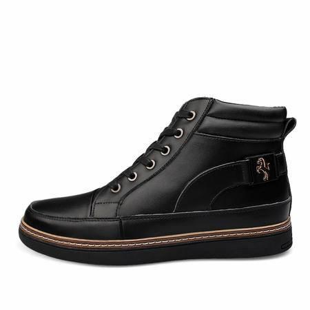 男士皮鞋冬季加绒保暖棉鞋高帮鞋真皮休闲大码男鞋雪地靴子马丁靴