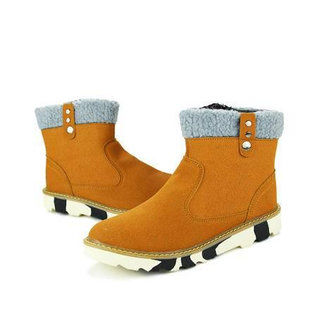 冬季雪地靴男士短靴韩版潮流男靴子休闲加绒棉鞋秋季男鞋马丁棉靴