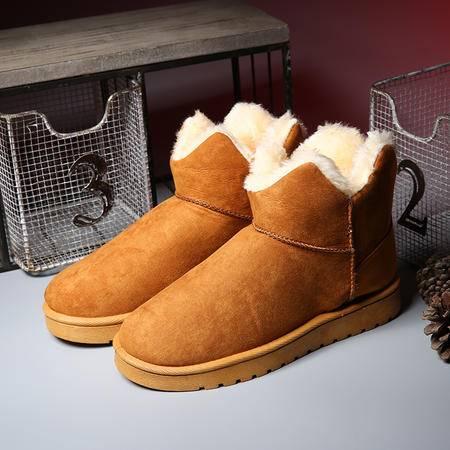 英伦皮带扣雪地靴冬季马丁靴增高休闲鞋保暖加绒棉靴时尚女生潮靴