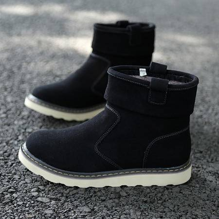 冬季雪地靴男士高帮棉鞋子加绒加厚棉靴面包鞋短靴子保暖休闲鞋男