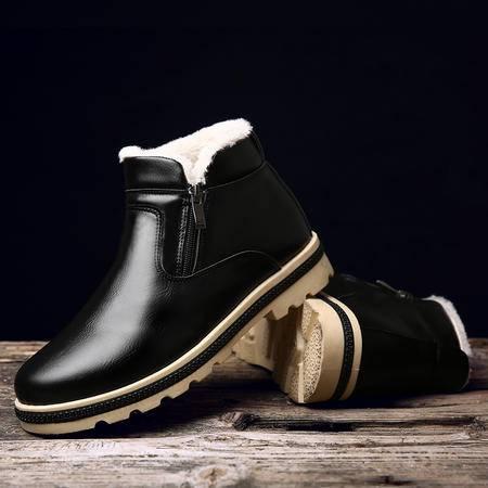 冬季棉鞋男加绒男士雪地靴男鞋休闲鞋防水加厚保暖马丁靴棉短靴子