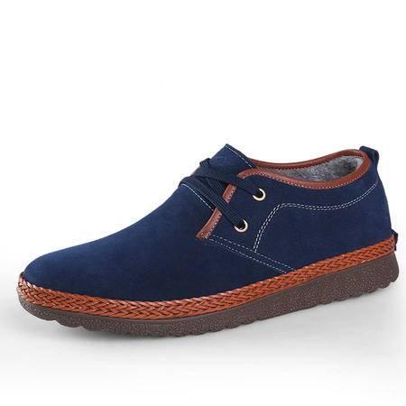 秋冬季内增高男士加绒增高鞋棉鞋隐形内增高休闲增高鞋男鞋