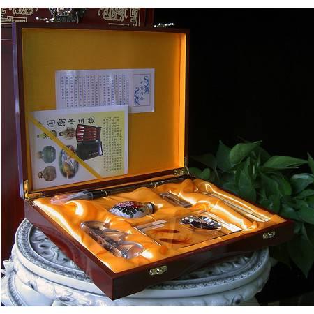 阿波罗艺术品 衡水三绝金鱼毛笔鼻烟壶套装集衡水特产大号礼装自用赠送文化佳品