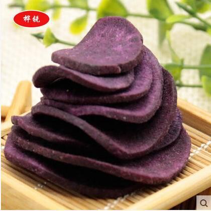 休闲零食美味新鲜紫甘薯脆片精美袋装 (原味) 50g