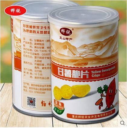 休闲零食 美味甘薯脆片 原味 精美罐装88g