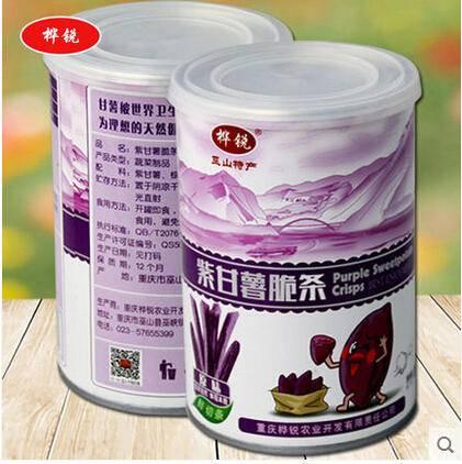 休闲零食  美味紫甘薯脆条 原味 精美罐装100g