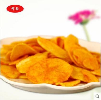 休闲零食美味马铃薯脆片 精美罐装88g番茄味