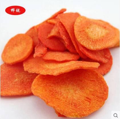 休闲零食 美味胡萝卜脆片   精美罐装  88g 原味
