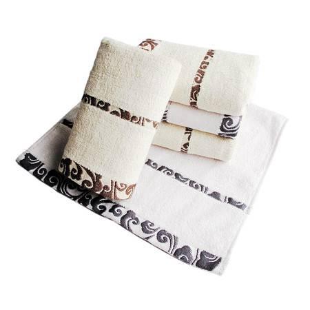 优竹尚品祥云精品竹纤维毛巾单条装  YZ-1505(限团购)