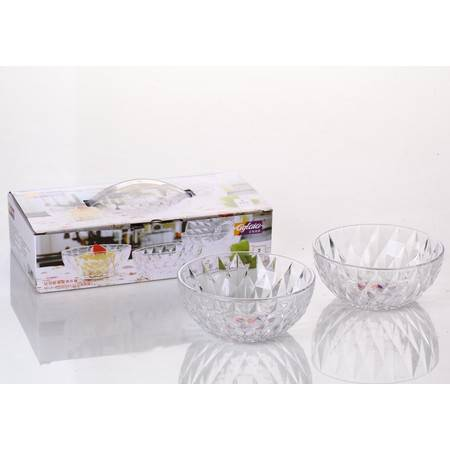 艾格莱雅钻石玻璃碗两件套 A-W7030-5-L2(限团购)