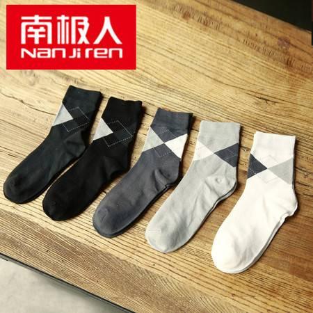 南极人 竹纤维平板中筒男袜五双装 MM0373