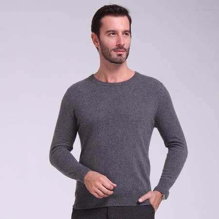 秋冬男士羊绒衫 套头毛衣 针织衫 大码针织衫 保暖纯色圆领打底衫