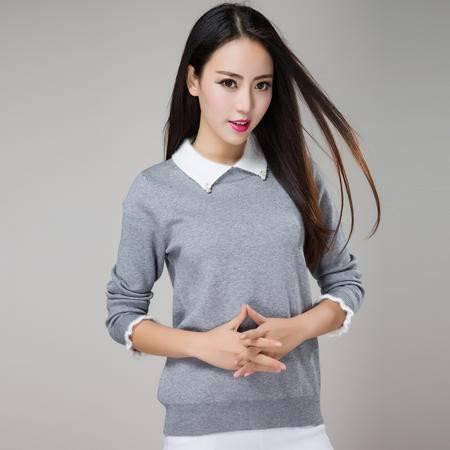 2015新款羊绒衫女式针织羊绒衫、修身百搭保暖羊绒衫