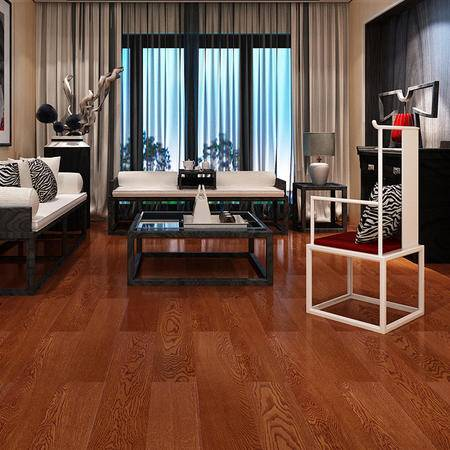 欣润家地板 多层实木地板AP8813H特拉华橡木15mm拉丝仿古地暖防水