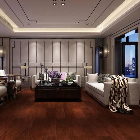 欣润家多层实木地板玫瑰紫 AH8058H 15MM适于地暖 环保地板
