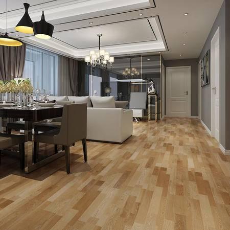 欣润家多层实木地板KS8371H 剑桥橡木 15mm平面拉丝多层实木地板