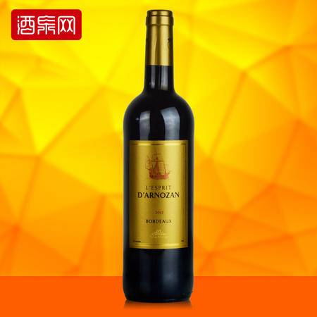 龙船庄园 法国原瓶进口红酒 灵气波尔多干红葡萄酒 750ml