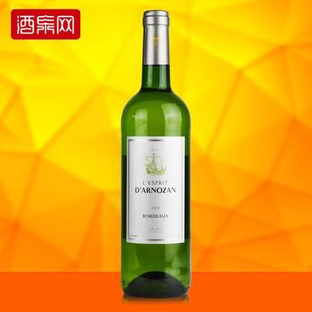 龙船庄园 法国原瓶进口红酒 灵气波尔多干白葡萄酒 750ml