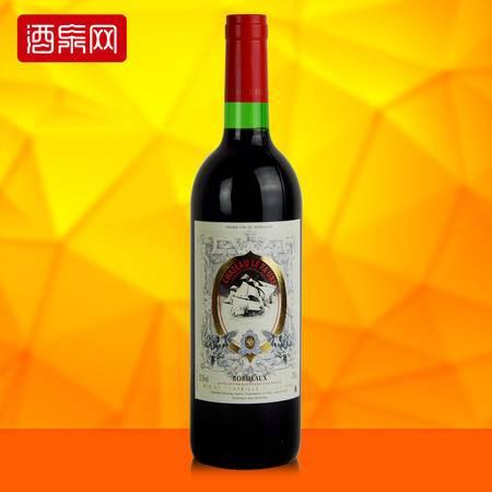 龙船舵手 法国原瓶进口红酒 船长典藏干红葡萄酒 750ml