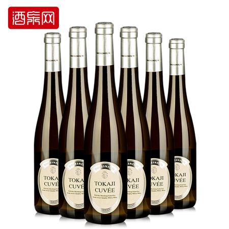 匈牙利原瓶进口 潘诺 托卡伊半甜干白葡萄酒 500ml 整箱6支装