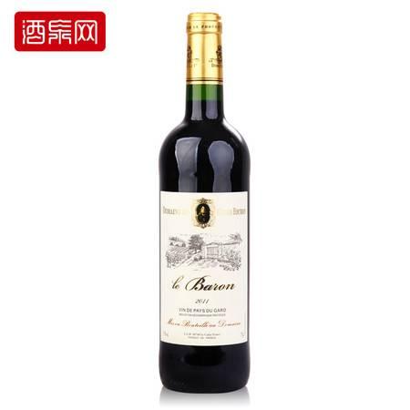 法国原瓶进口红酒 露菲尔男爵干红葡萄酒 750ml