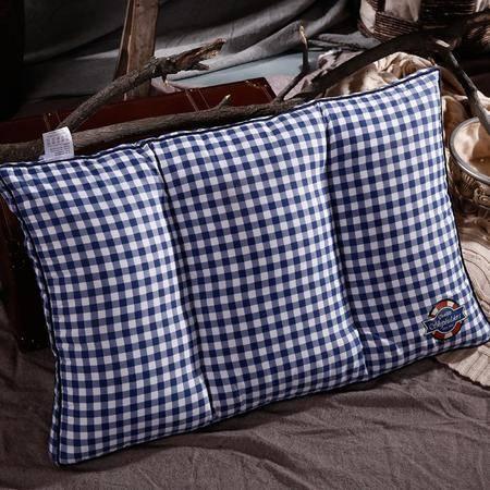 好梦来北欧英伦风枕头 简约格子条纹学生宿舍单人枕芯 可水洗舒适
