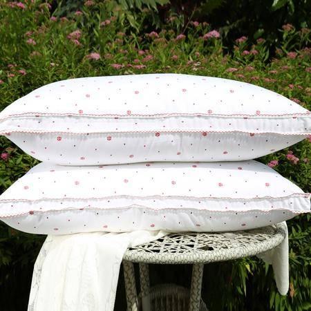 好梦来婚庆配套枕芯枕头高回弹亲肤舒适健康羽丝枕单人枕 单只
