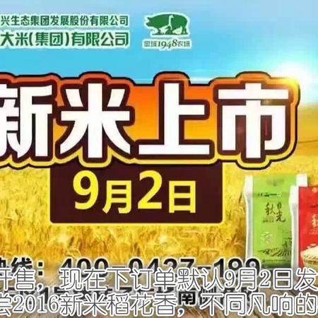【辽宁特产】盘锦大米 16年新米 全球1948有机大米 稻花香 真空白色高级礼盒5*1KG