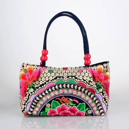 隆林民族特色女款刺绣手提包