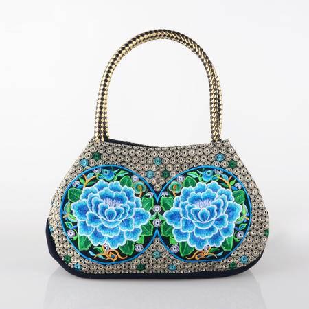 隆林民族风绣花包 特色女款牡丹刺绣手提包