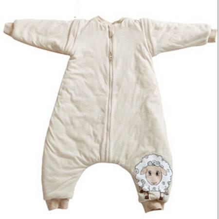 艾佳  双层袖口可脱卸分腿式彩棉睡袋 M号