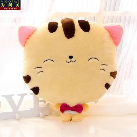 40*40CM 可爱大脸猫暖手抱枕两用毛绒玩具 (可播音乐)
