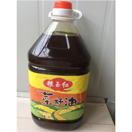 石柱特产 粮玉红5L菜籽油