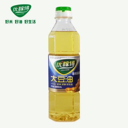 优稼得 大豆油非转基因一级 东北特产900ml