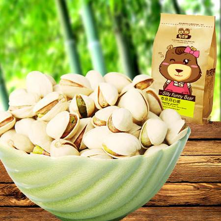 憨豆熊 清香好剥 208*2开心果 休闲零食坚果小吃
