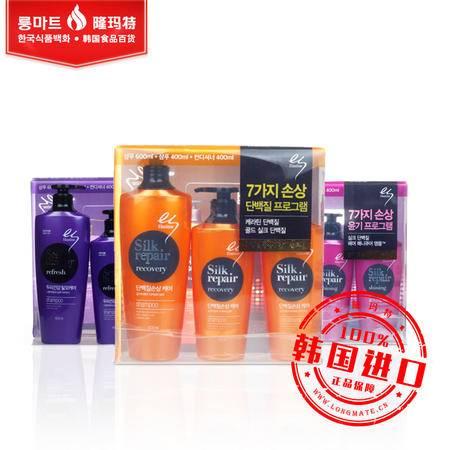 韩国进口正品LG ES Elastine 洗发水套装损伤修复控油顺滑闪亮