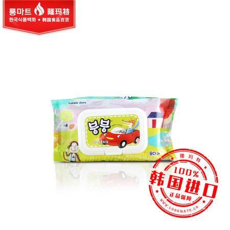 韩国原装进口 卡通湿巾超柔卡通洁肤湿纸巾清洁肌肤去油保湿 80抽
