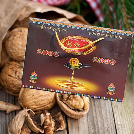 西藏特产  山南加查核桃油  2*100ml礼盒装