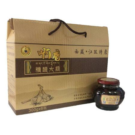 西藏特产  日喀则江孜啊香糖醋大蒜  六瓶装